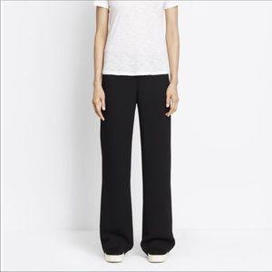 Vince black wide leg side zip trouser size 4